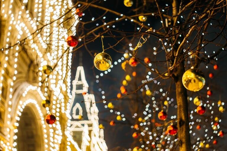 クリスマスの街の写真
