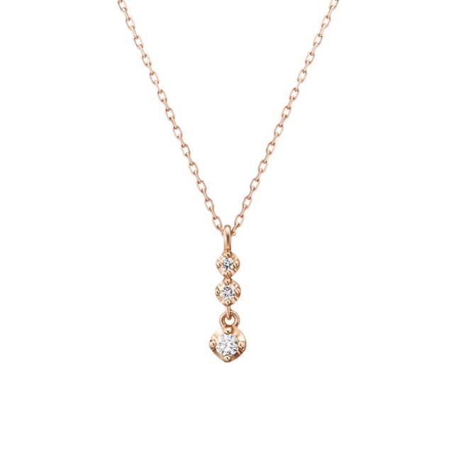 4℃_ダイヤモンド K10 ピンクゴールド ネックレス
