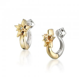 starjewelry_WHITE TOPAZ & STAR CLIP EARRINGS