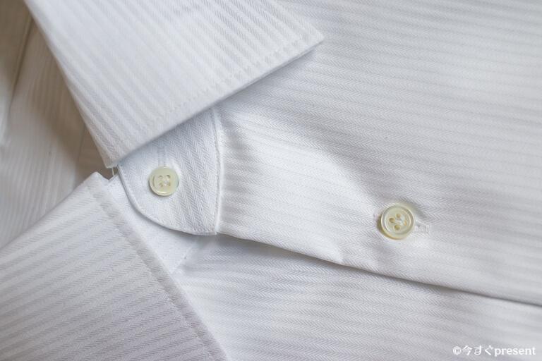 KEI_オーダーメイドシャツ_第一ボタンと第二ボタン1