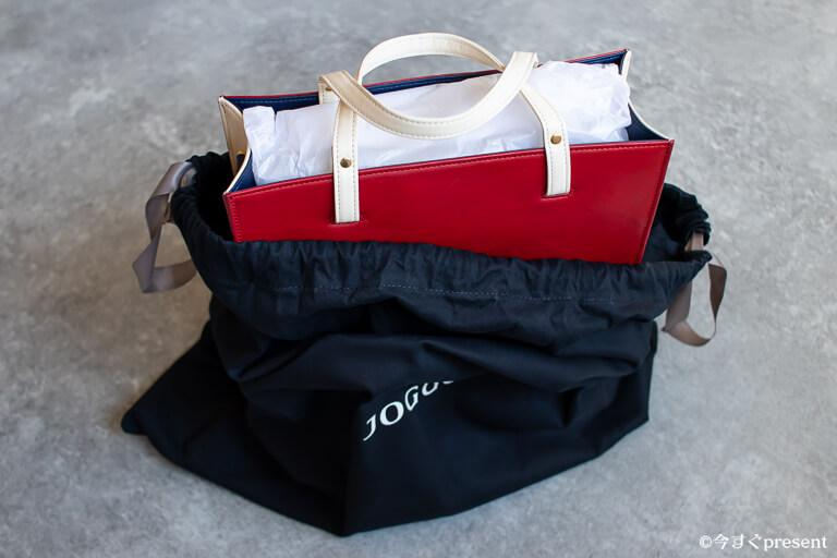 JOGGO_レディースボックストートバッグ_コットンバッグの中に入っているバッグ