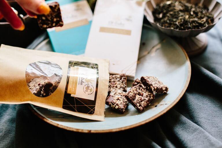 チョコに添えたギフトのイメージ