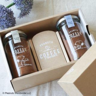 iniccoffee_スヌーピー コーヒーパウダー [選べる2 Bottle] Gift Box_商品写真