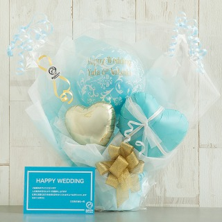 Ballon Kitchen_憧れのブルー&ゴールドバルーンポット_商品写真 (1)