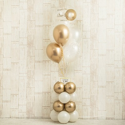 Ballon Kitchen_高級感溢れるツートーン・スタンディングバルーン