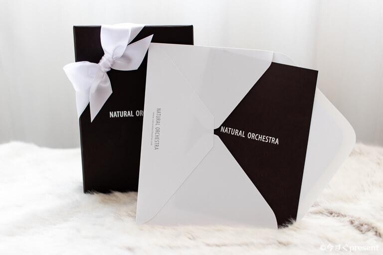 NATURAL ORCHESTRA ギフトボックスとメッセージカード
