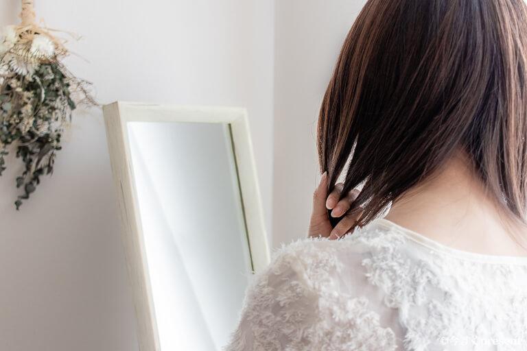 SWATi_Body&Hair Fruits Water_寝ぐせ直しに使っている写真