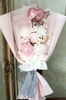 アップビートバルーン_満開のさくら咲く バルーン花束_商品写真2