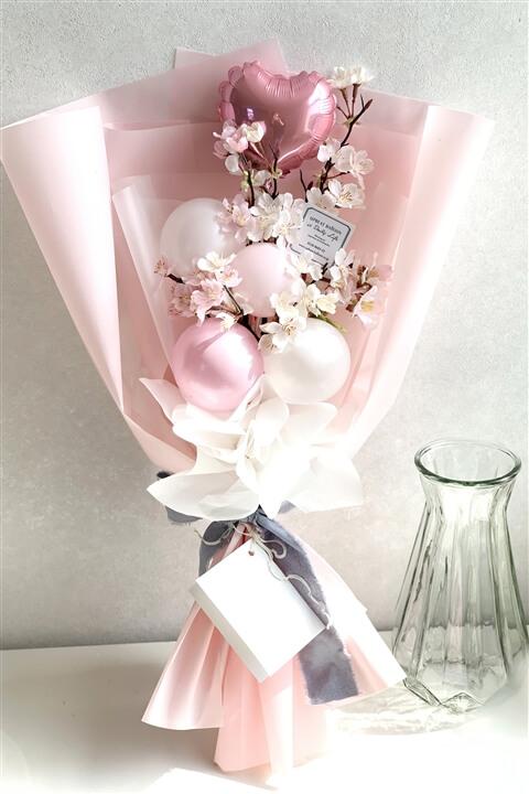 アップビートバルーン_満開のさくら咲く バルーン花束_商品写真