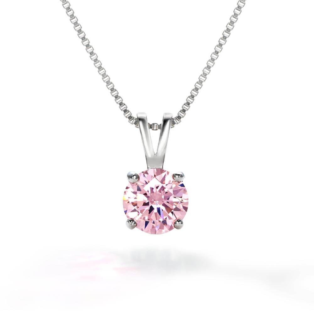 ニューヨークからの贈り物_ピンクダイヤモンドネックレス_商品写真