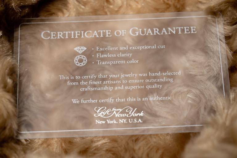 ニューヨークからの贈り物_品質保証書