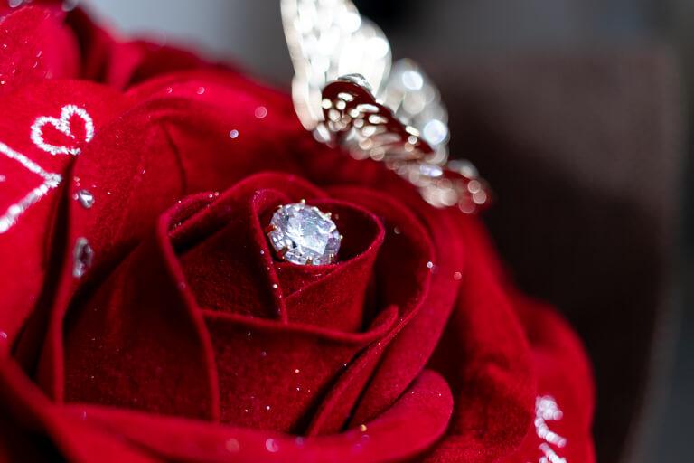 MERIA ROOM MEN(メリアルームメン)_12本の赤バラの花束と花瓶セット_キュービックジルコニア_2