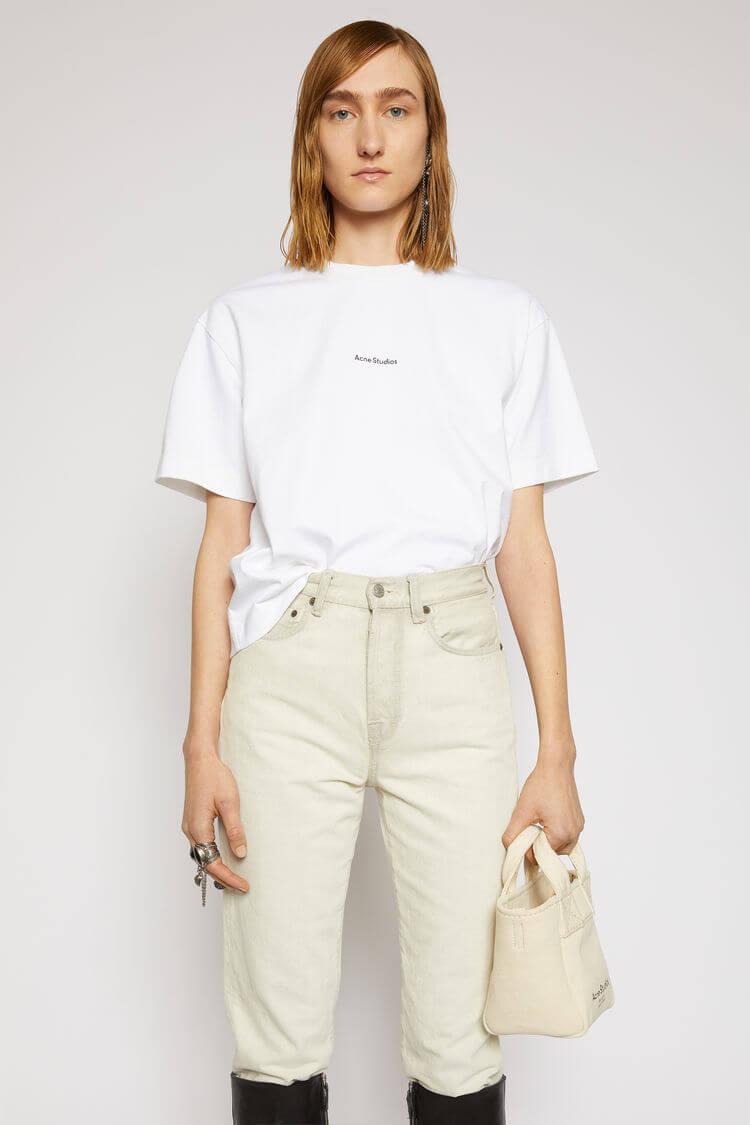 Acne Studios(アクネ ストゥディオズ)_ロゴプリントTシャツ オプティックホワイト_商品写真