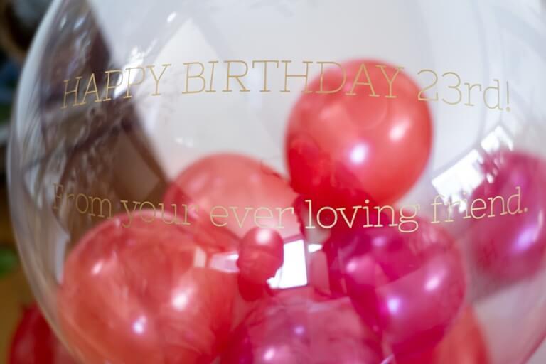 Ballon Kitchen_Surprise Heart Box_バルーンのメッセージ1