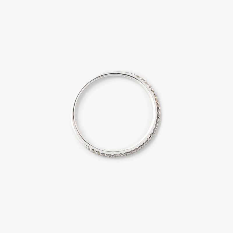 BETTINA JAVAHERI_White Diamond Demi Cercle Ring_商品写真2