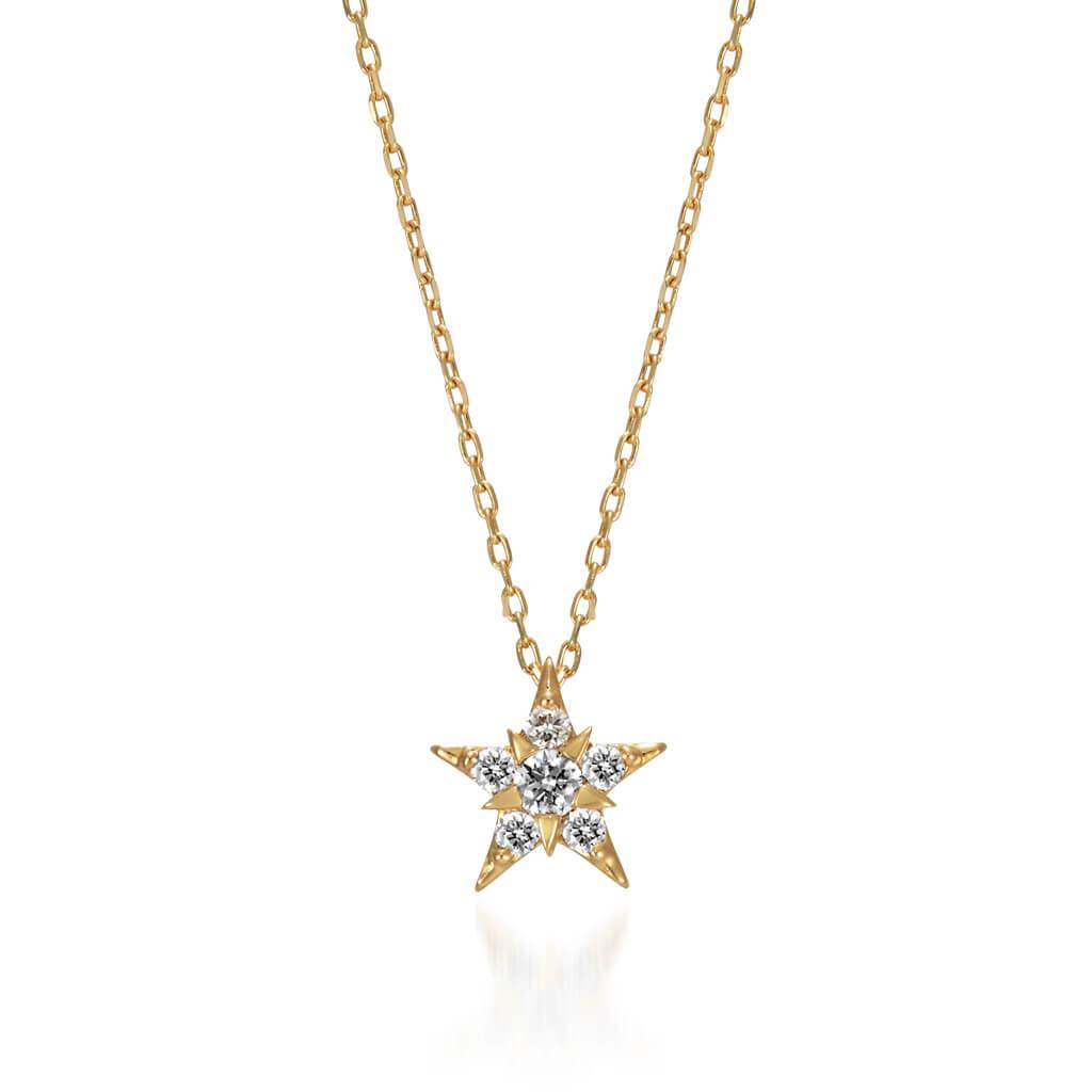 STAR JEWELRY_スタージュエリー_K18 ネックレス STAR of STARS_商品写真1