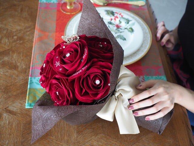 メリアルーム_赤バラの花束