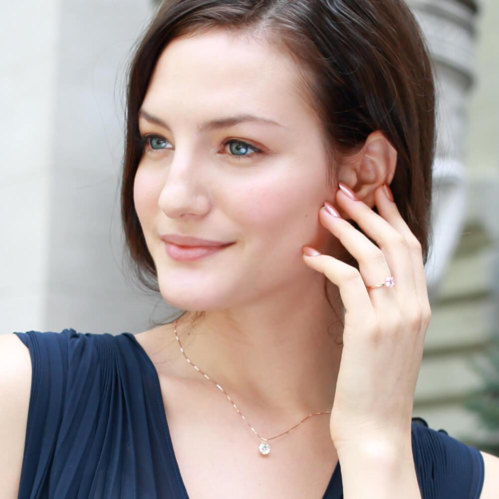 ニューヨークからの贈り物_ダイヤモンド ピンクゴールド ネックレス_商品写真3