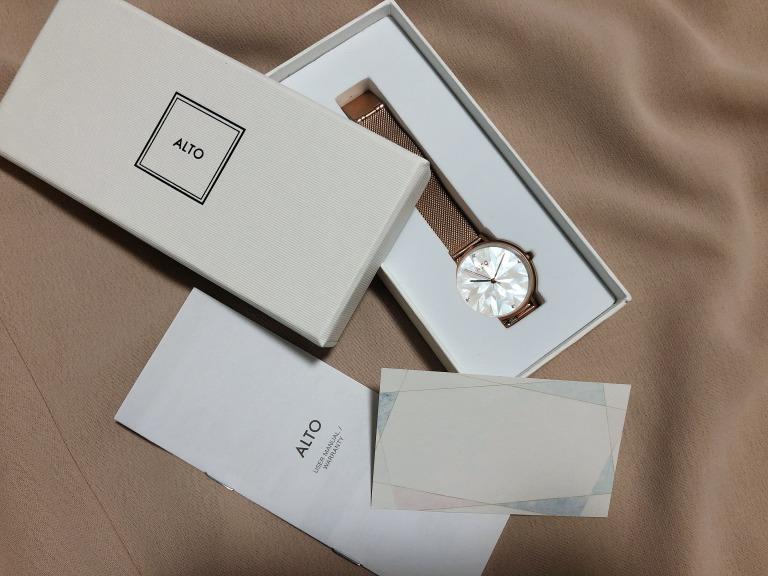 ALTO_アルト_Purelove ローズゴールド_腕時計とボックス