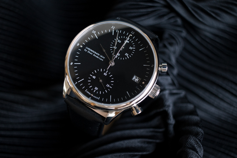 About Vintage_アバウトヴィンテージ__1844 CHRONOGRAPH STEELBLACK_文字盤