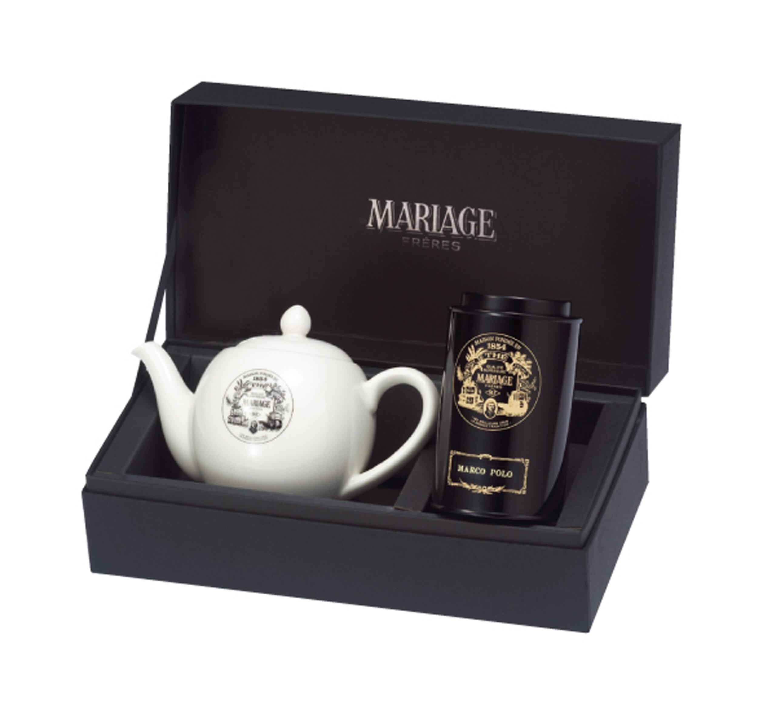 マリアージュフレール_紅茶とティーポットの贈り物_商品写真①