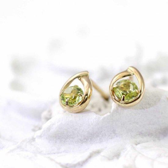 JewelryROLA_ローラ_K18YG ペリドット ピアス_商品写真1