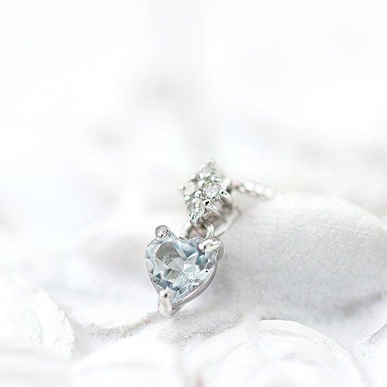 ROLA_K10WG アクアマリン ダイヤモンド ネックレス