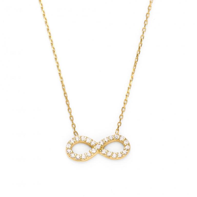 ニューヨークからの贈り物_Infinity インフィニティ (無限) czダイヤモンド ネックレス_商品写真1