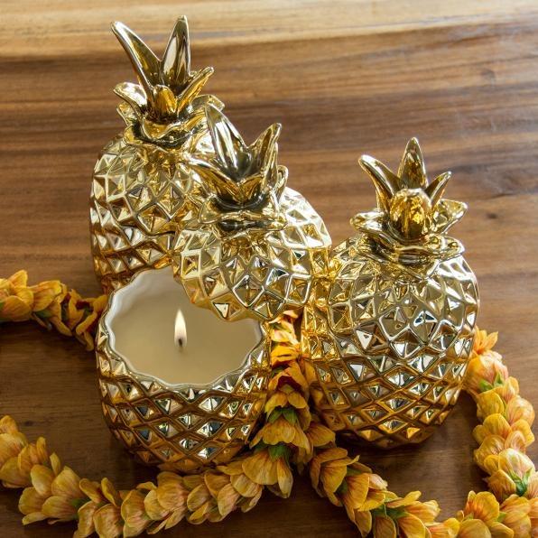Malie Organics_Soy Candle Pineapple_商品写真①