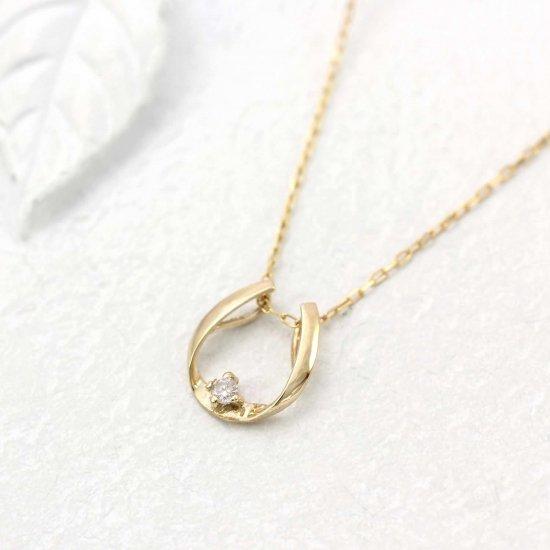 ROLA_K10YG ダイヤモンド 馬蹄 ネックレス_商品写真1