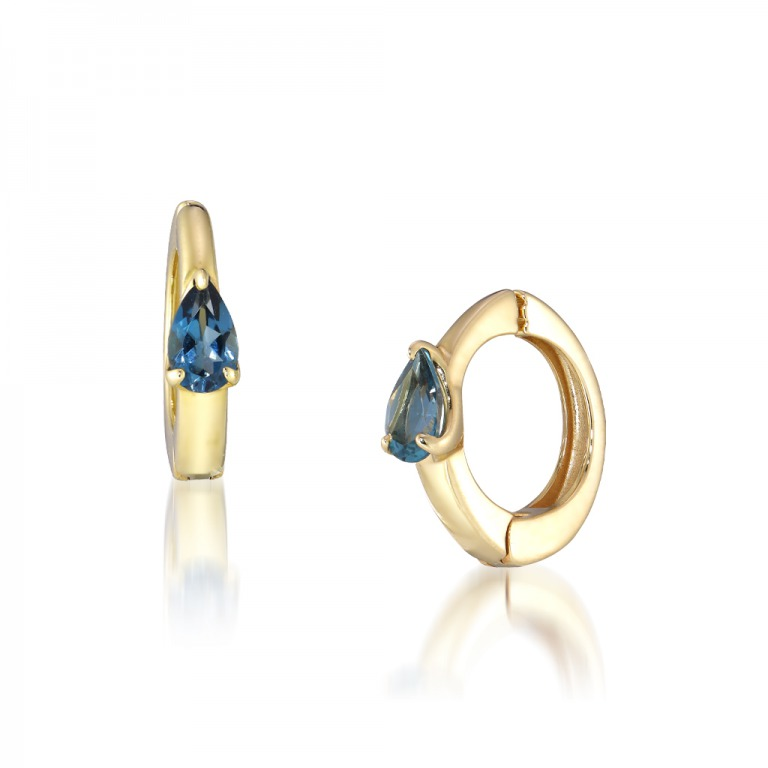 STAR JEWELRY K10 イヤリング BLUE TOPAZ CLIP EARRINGS