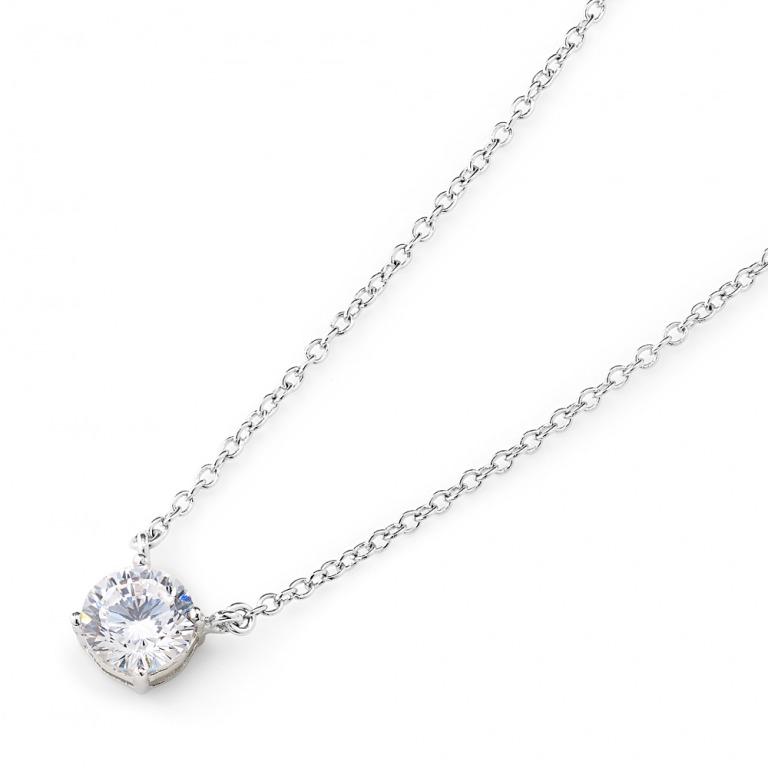 ニューヨークからの贈り物_最高級品質 16ハート&アロー ネックレス 4つ爪_商品写真1