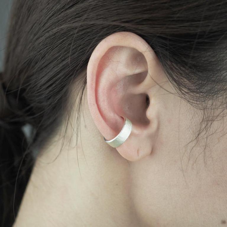 yuzen_ユゼン_SILVER EAR CUFF TSUCHIME 004 シルバー イヤーカフ_商品写真2