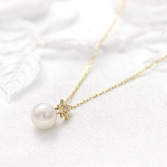 ROLA_K10YG アコヤ真珠 ダイヤモンドネックレス