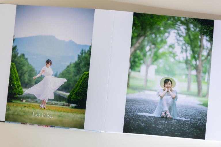MyBook_マイブック_縦写真を大きく配置したページ