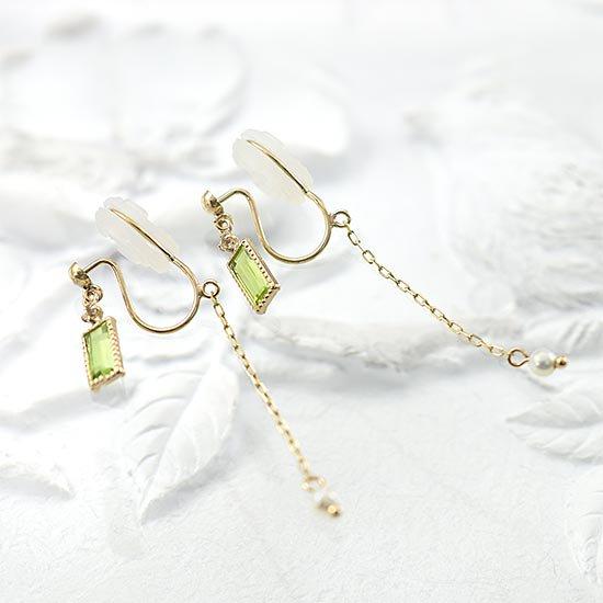 JewelryROLA_ジュエリーローラ_K10YG ペリドット&トパーズ&真珠 イヤリング_商品写真1