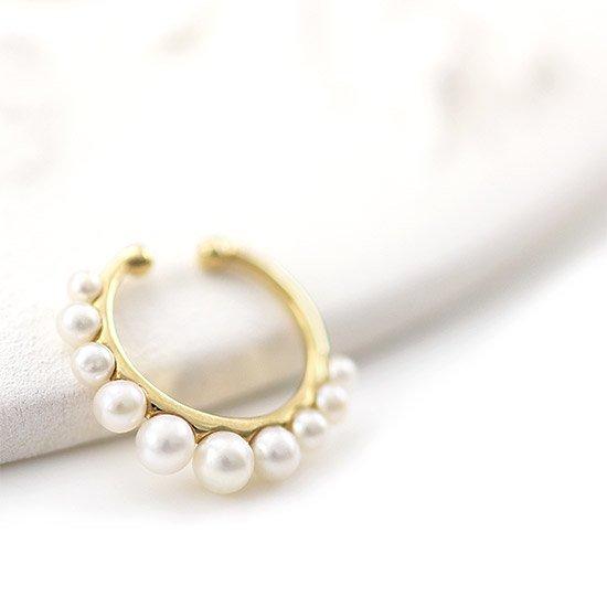 JewelryROLA_ジュエリーローラ_K10YG 淡水真珠 イヤーカフ_商品写真1