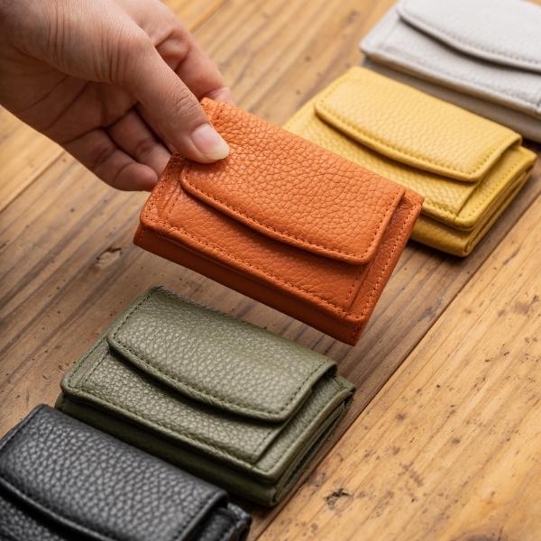 MURA_イタリア製シュリンクレザー スキミング防止機能付き 三つ折り財布_商品写真