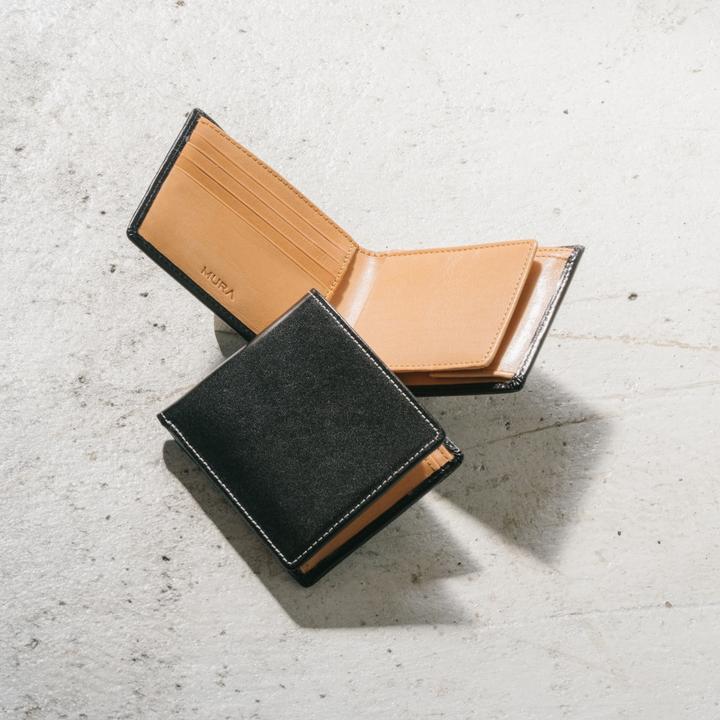 MURA_イタリアン フルグレイン レザー スキミング防止機能付 二つ折り財布_商品写真