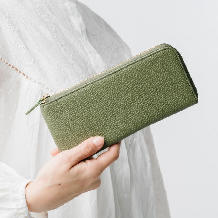 MURA_イタリアンレザー 薄型 L字ファスナー スリム 長財布