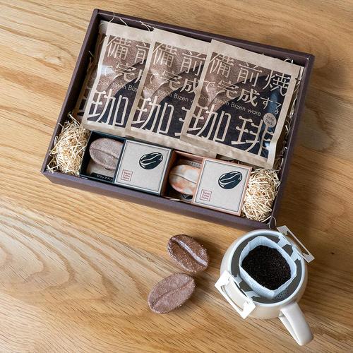 高島屋ギフト_備前焼で完成するコーヒーセット_商品写真①