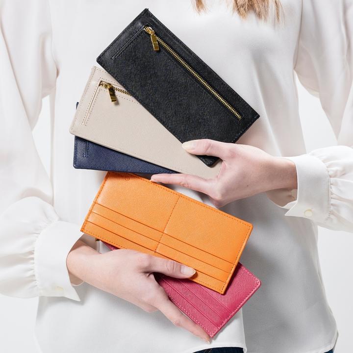 MURA_本革 サフィアーノレザー スキミング防止機能付き 薄型 長財布